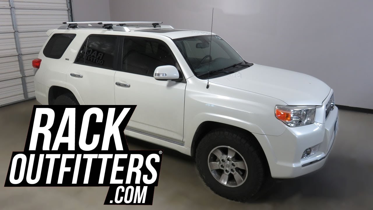 Toyota 4runner With Thule Rapid Crossroad Aeroblade Roof Rack Crossbars