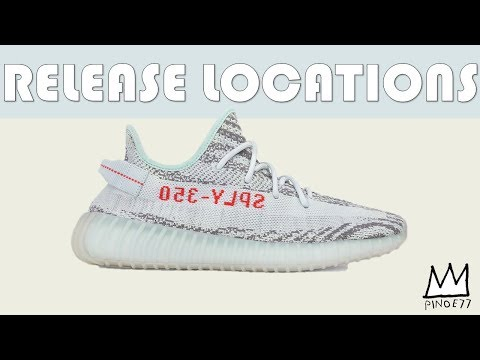 Download Youtube: BLUE TINT 350V2 YZY RELEASE LOCATIONS, SNKRS RESTOCK & MORE!