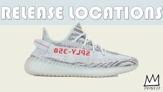 BLUE TINT 350V2 YZY RELEASE LOCATIONS, SNKRS RESTOCK & MORE!