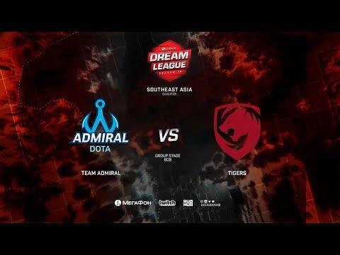 Team Admiral vs Tigers, DreamLeague Minor Qualifiers SEA,bo3, game 1 [Lex and 4ce]