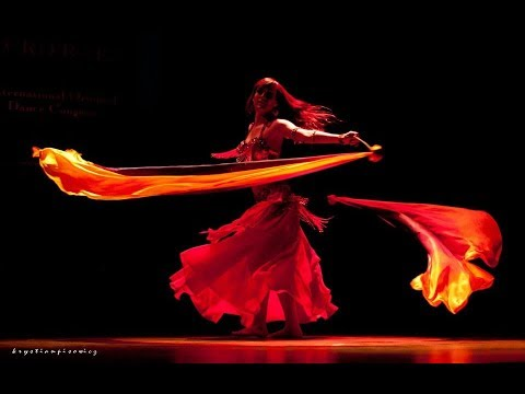 Jasirah - double veil poi on Euro Raks II - The story of the Phoenix