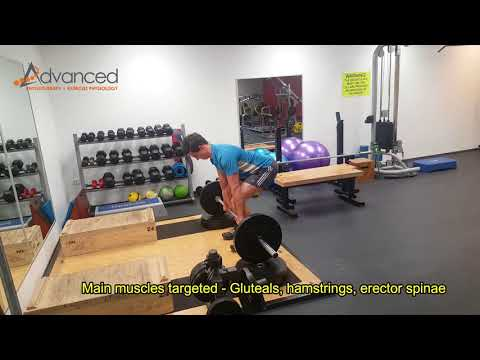 Barbell Conventional Deadlift Elevated