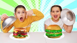 Real Food vs Slime Food Switch Up Challenge! *PART 2!* 😱 | JKrew
