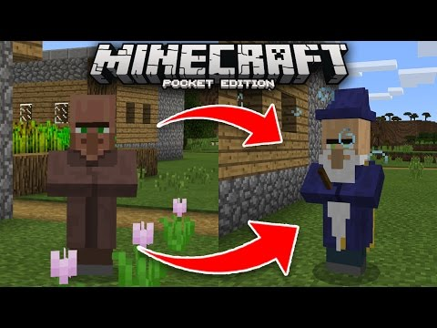 How To Spawn the WIZARD BOSS in Minecraft PE 1.0.9!! (Villager Wizard Addon)