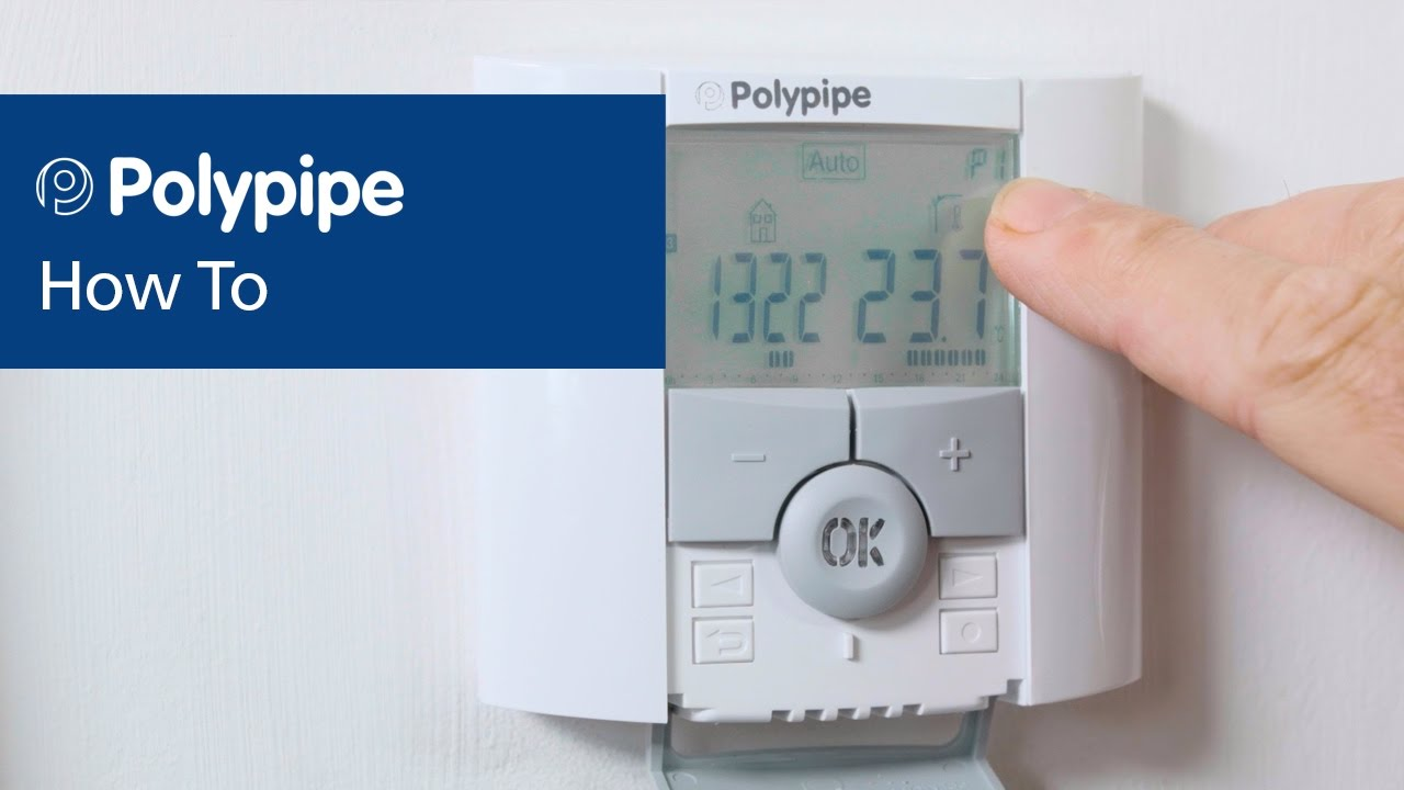 Polypipe Underfloor Heating Controls  Programming Thermostat  YouTube
