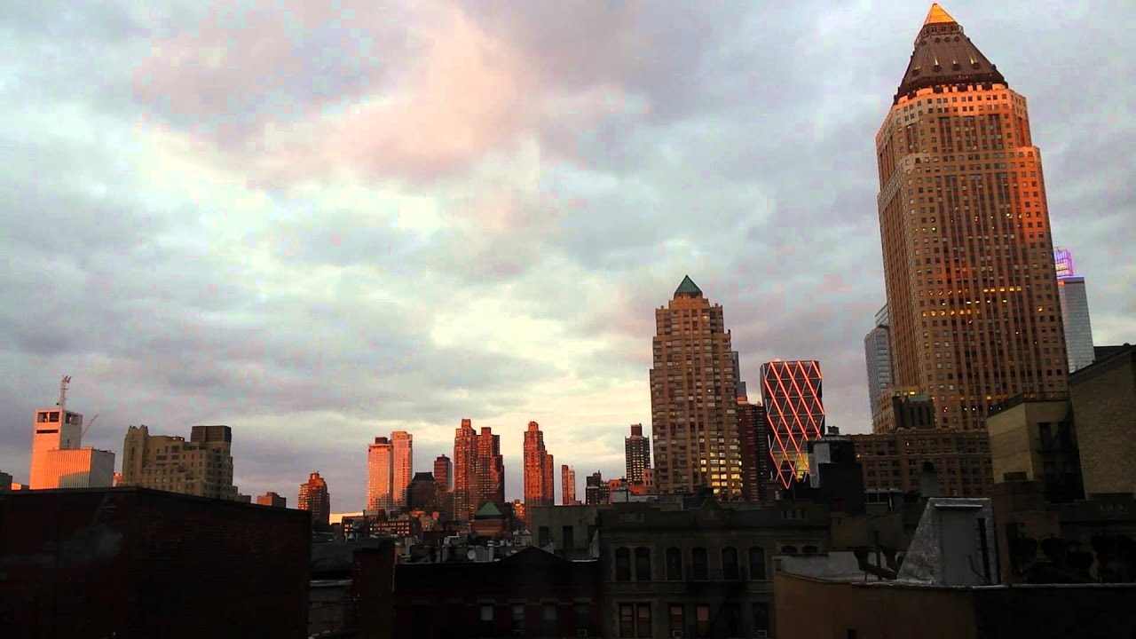 short timelapse new york city hell s kitchen skyline youtube