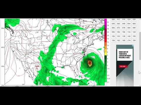 Hurricane Maria CAT3 Headed To The Carolina Coast 9/23/17