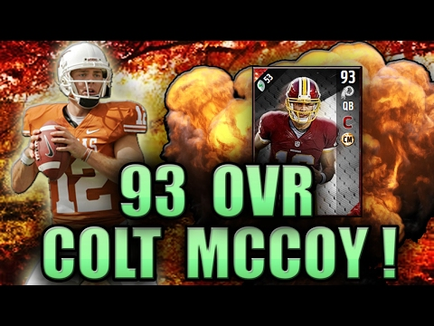 REMEMBER WHEN WE THOUGHT COLT WOULD BE GOOD?! (93 COLT MCCOY GAMEPLAY) - MADDEN NFL 17 ULTIMATE TEAM