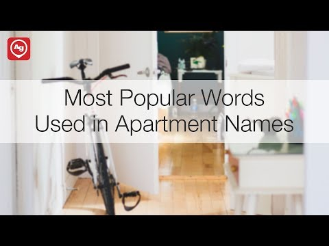 Most Popular Words Used in Apartment Names
