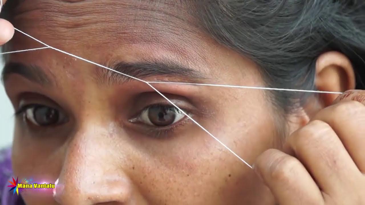Perfect Eyebrow Threading At Home Simple Easy By Manavantalu