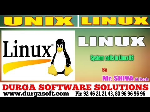Linux/ Unix Tutorial ||  System  calls in Linux OS by Shiva