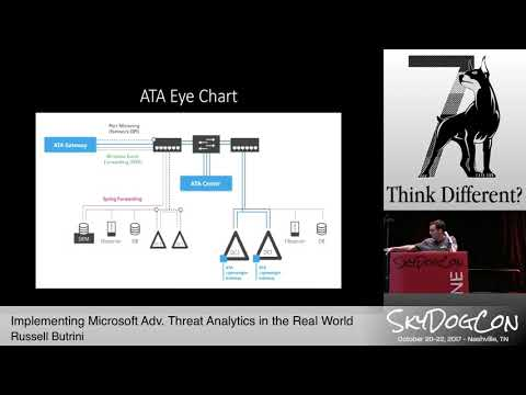 """SkyDogCon 2017: """"Implementing Microsoft Advanced Threat Analytics..."""" by Russel Butterini"""