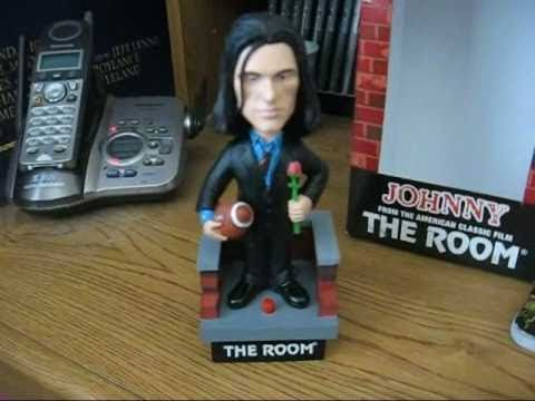 The Room Johnny Tommy Wiseau Talking Bobblehead Signed