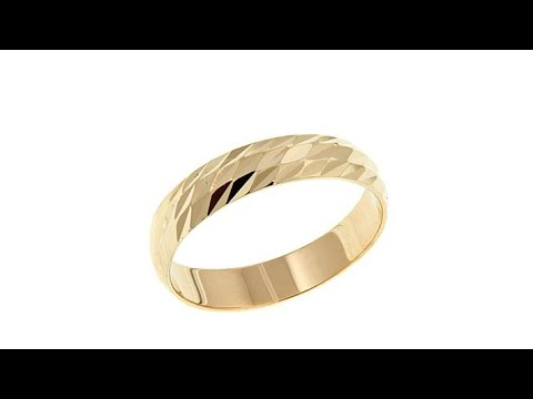 Passport to Gold 14K 4mm DiamondCut Band Ring. https://pixlypro.com/AXpjaX0