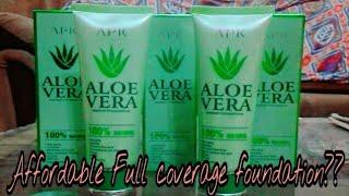 Best Affordable Full Coverage Foundation   APK aloe Vera foundation   world's most full coverage