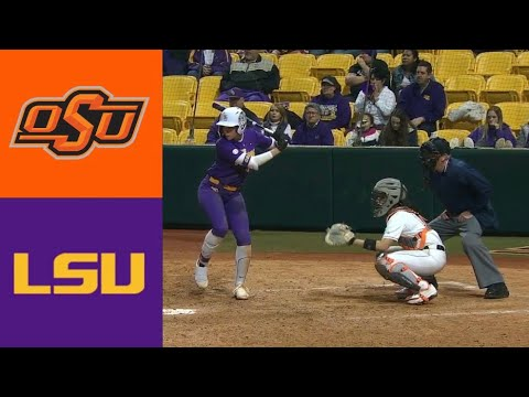 #13 Oklahoma State Vs #11 LSU (2/8/20) | 2020 College Softball Highlights