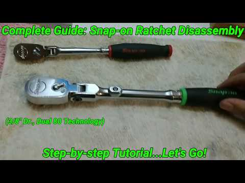 """Snap-on Ratchet: Step-by-step Teardown and Reassembly (3/8"""" Drive) 