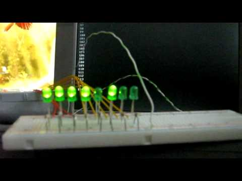 LED 8 Bit Counter Controlled By Parallel Port
