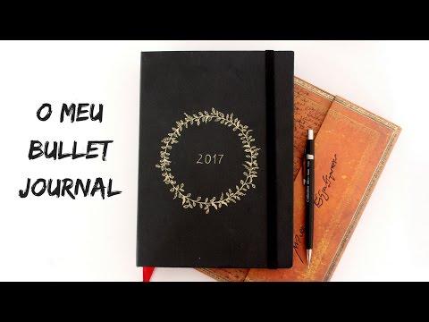 Caderno feito à mão - Meu Bullet Journal | Marina Araújo