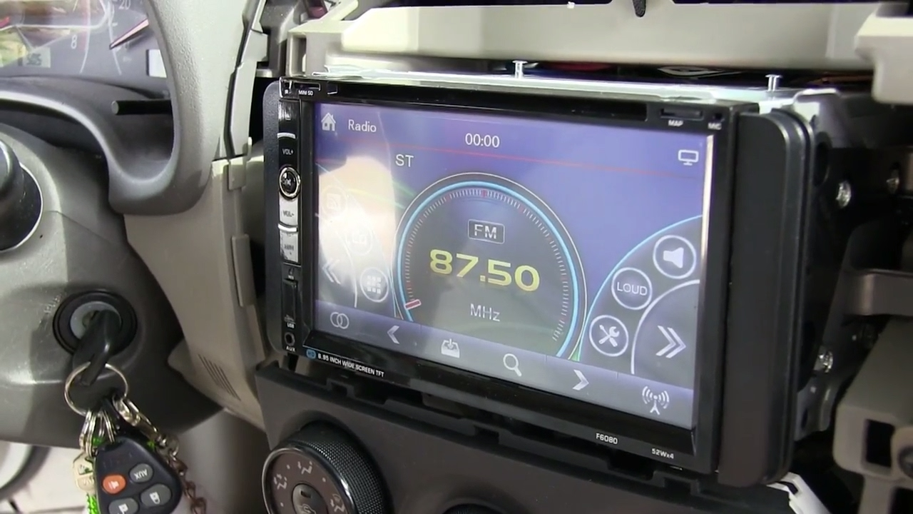 how to install bluetooth touch screen car stereo w gps backup camera 2009 2013 toyota corolla  [ 1280 x 720 Pixel ]