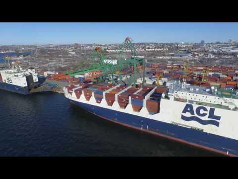 DJI Phantom 3 Video - New & Old! ATLANTIC STAR & CONVEYOR - Port of Halifax (Mar 21, 2017)