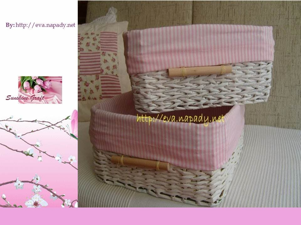 How To Make A Flower Paper Basket : Basket from newspaper part