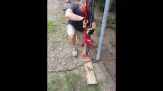 How to get a fence post out of the ground with a highlift jack