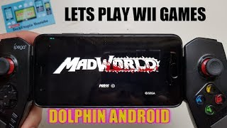 Playing Wii Game MadWorld Android Gameplay with Emulator Dolphin test/Adreno 540