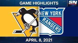 NHL Game Highlights   Penguins vs. Rangers – Apr. 8, 2021