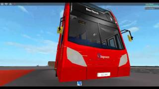 Roblox London Hackney & Limehouse bus simulator on Enviro 400 Hybrid Stagecoach London Route 8