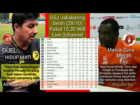 Line Up Sriwijaya FC Vs Perseru: Memang Atau Degradasi Alfredo Vera!