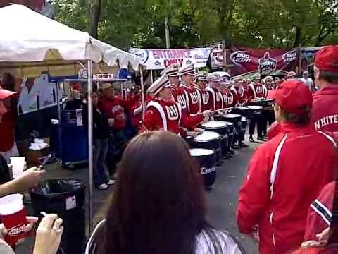 Wisconsin Badger drumline at Lucky's Bar