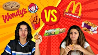 McDONAL'S VS WENDY'S CHALLENGE !WICH FAST FOOD IS THE BEST?