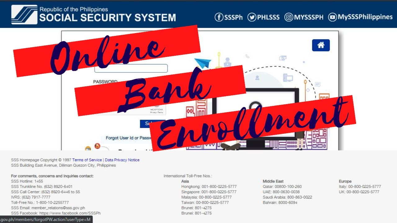 How To Enroll Add Bank Account On Sss Online Youtube