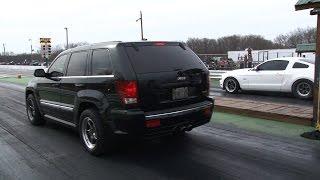 Turbo HEMI Jeep Cherokee SRT8 Run's 10's(Sweet 2008 Jeep Grad Cherokee SRT8 with a 6.1 L Hemi with 76mm Turbo at Ozark Raceway Park. The Jeep runs a personal best 10.79 @124mph and also ..., 2015-03-26T23:37:33.000Z)