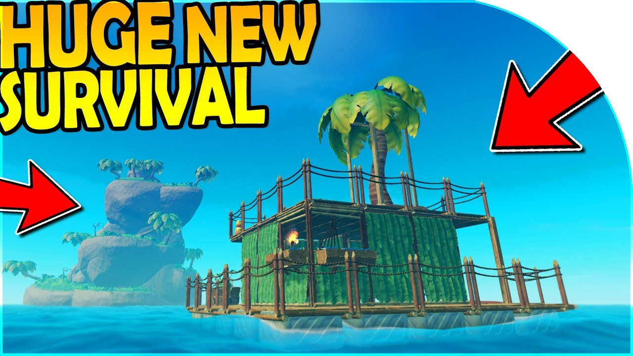HUGE *NEW* SURVIVAL GAME! - RAFT BASE BUILDING ( Raft Survival Gameplay  Part 1 )