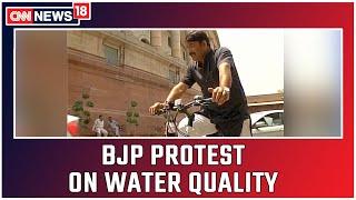 Politics Over Poor Water Quality In Delhi   CNN News18