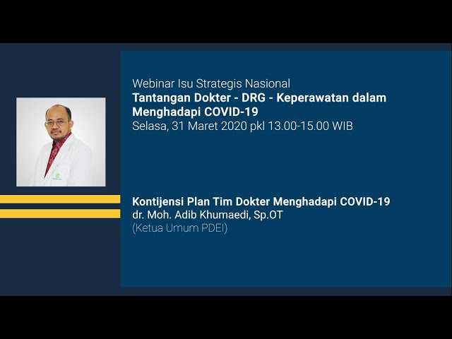 Kontijensi Plan Tim Dokter Menghadapi COVID 19