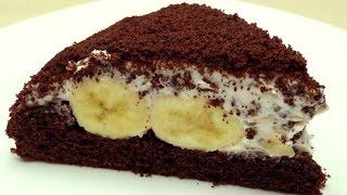 """Рецепт торта """"Крот"""" (или """"Норка крота"""") - Шоколадно-банановый торт"""