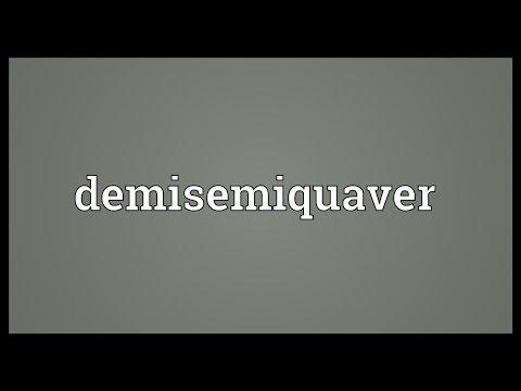 Header of demisemiquaver