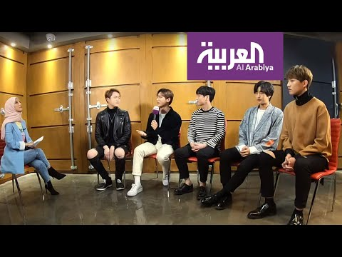 """لقاء فرقة B.I.G الكورية وغنائها """"3 دقات"""""""