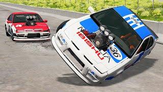 Drag Racing Crashes #22   BeamNG Drive