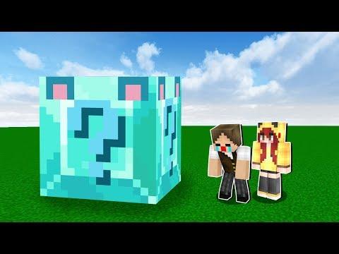 Minecraft: NUNCA ABRA O LUCKY BLOCK AZUL GIGANTE! (ELE DÁ AZAR!)