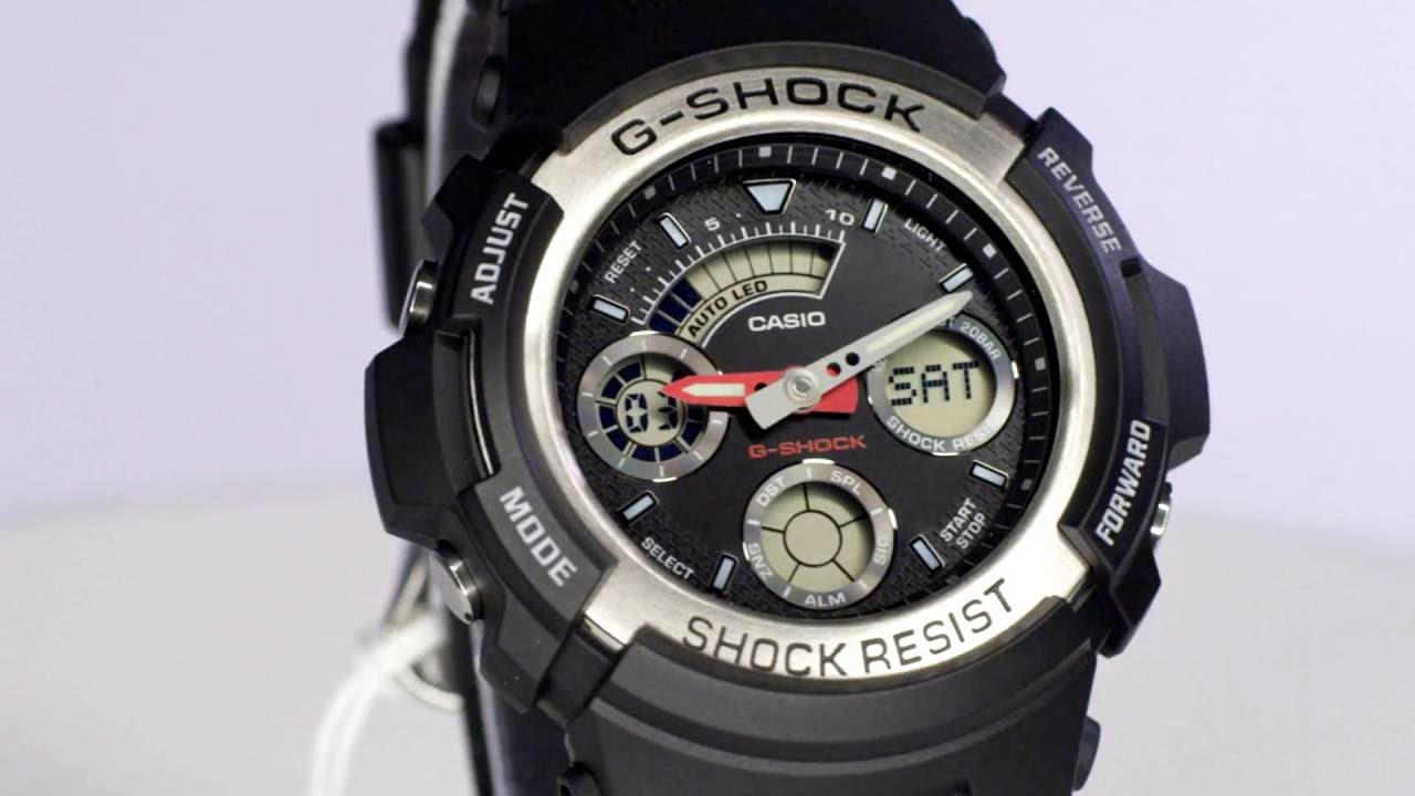 b7784f75c29b Casio G-shock AW-590-1ADR Overview and Main Features. Buy Watches Online