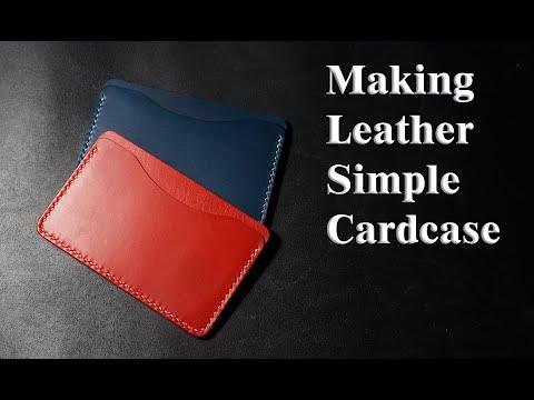 1 [가죽공예] 심플 가죽 카드지갑 만들기 (simple leather card wallet)