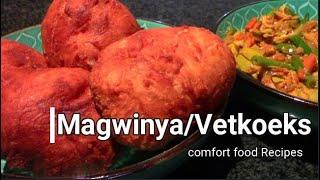 AMAGWINYA/ VETKOEKS/ Mafeti/ Fatcakes RECIPE | AFRICAN comfort Food Recipes || DIY Cooking Teknix