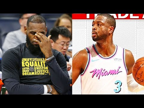 LeBron James reacts to Dwyane Wade Trade to Miami Heat! Cavaliers Trade Dwyane Wade to Miami Heat