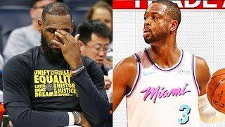 LeBron James reacts to Dwyane Wade Trade to Miami Heat! Cavaliers Trade Dwyane Wade to Miami Heat