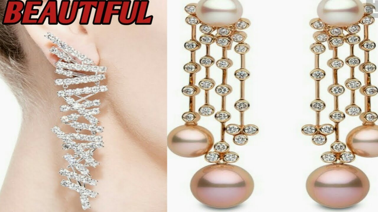 most stylist earrings design most beautiful gold earrings ,party ...