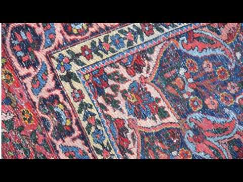 Gallery antique Persian Bakhtiari room size rug